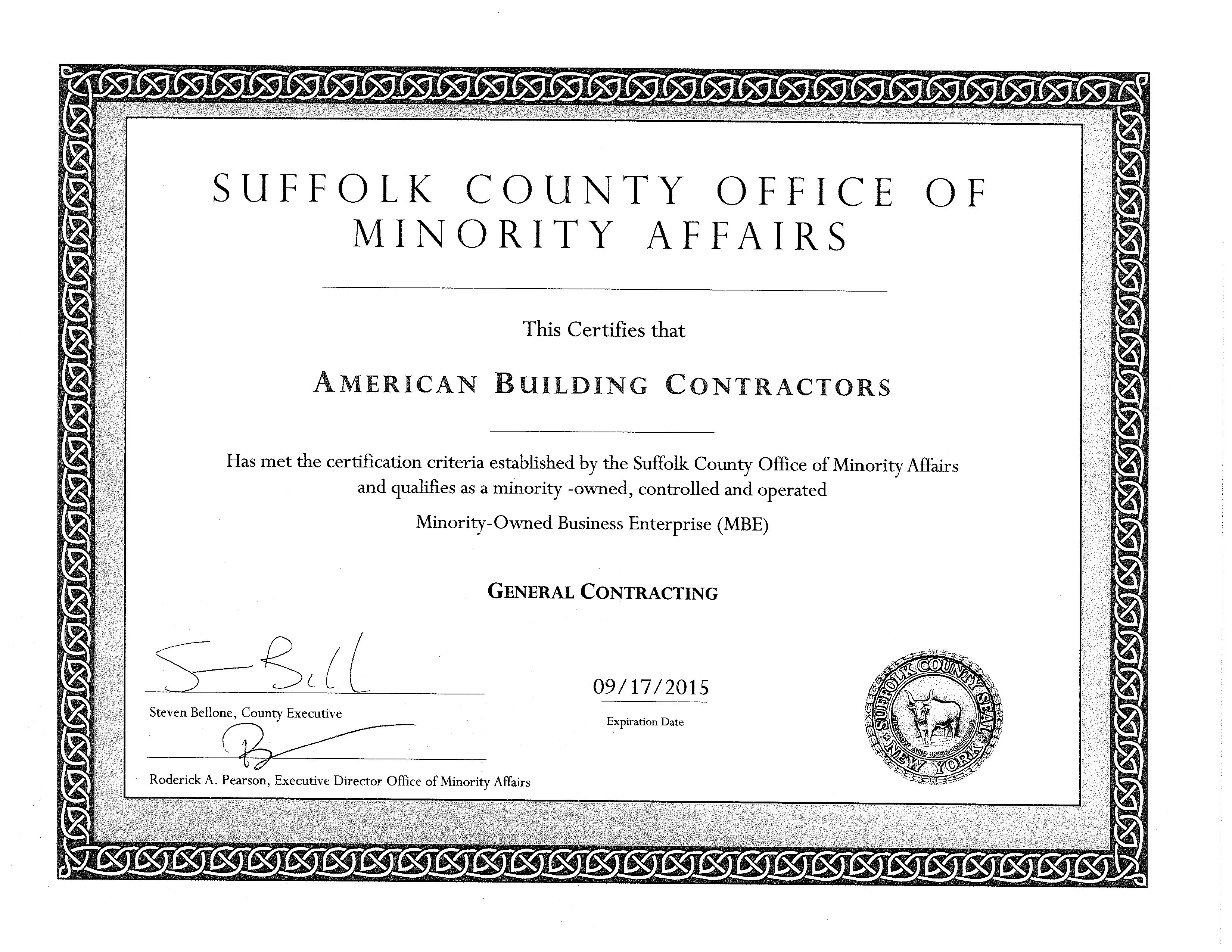 Mbe certifications abc associates suffolk county mbe certification xflitez Gallery